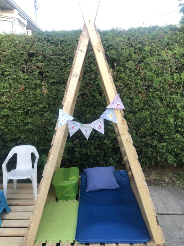 Five Pallets Kid's Teepee Fun Pallet Crafts for Kids