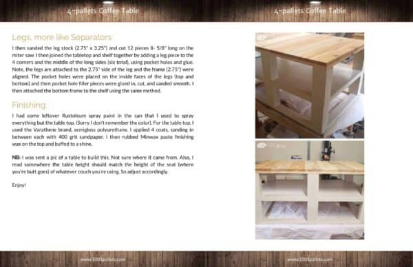 4-Pallets Coffee Table English Tutorials Furniture