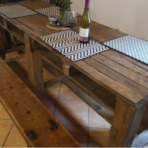 4 Pallets Dining Table