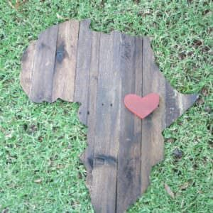 Africa Pallet Wall Plaque