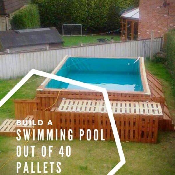 Swimming Pool Out Of 40 Pallets