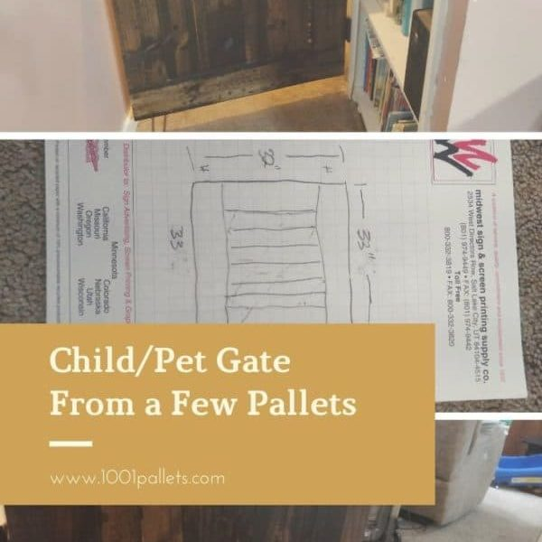 Child:Pet Gate From a Few Pallets