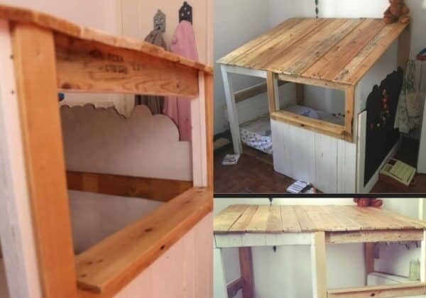 Child's Pallet Cabin Bed