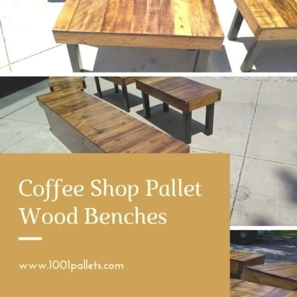 Pallet-wood-benches