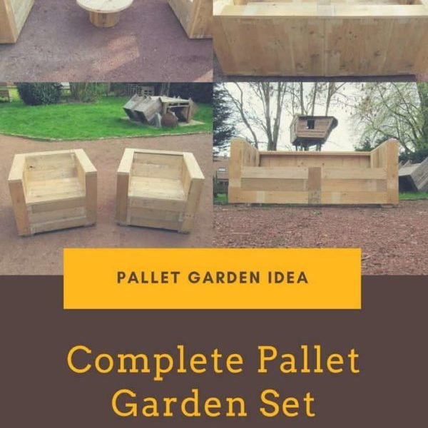 Complete Pallet Garden Set Pallet Ideas 1001 Pallets: Garden Patio Sofa Set Made Out Of Recycled Pallets • 1001