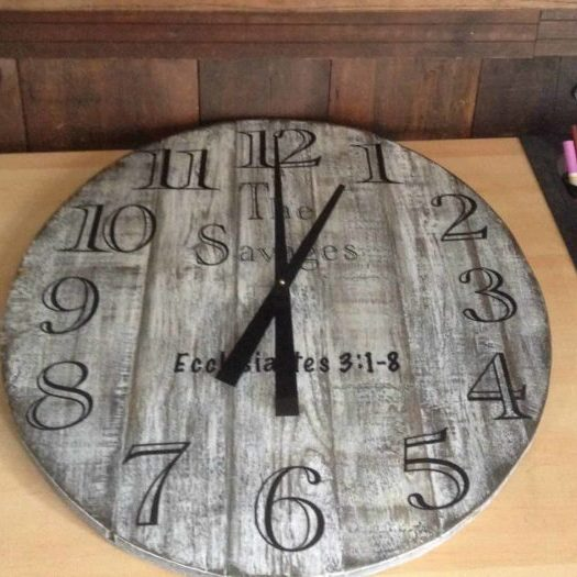 Custom Pallet Wall Clock