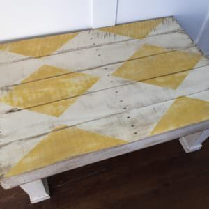 Diamond-patterned Rustic Coffee Table