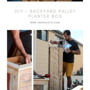 Diy - Backyard Pallet Planter Box