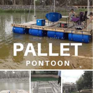 1001pallets.com-diy-portable-pontoon-using-old-pallets-and-old-blue-drums-01