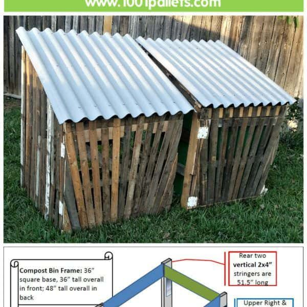 Gated Pallet Compost Bins Can Be Used For Many Outdoor Purposes