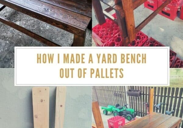 How I Made A Yard Bench Out Of Pallets