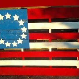 1001pallets.com-how-i-made-this-beautiful-flag-with-one-pallet