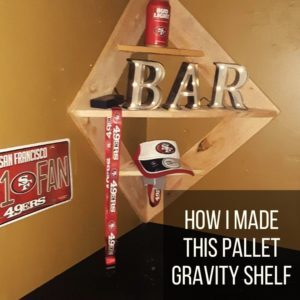 How I Made This Pallet Gravity Shelf