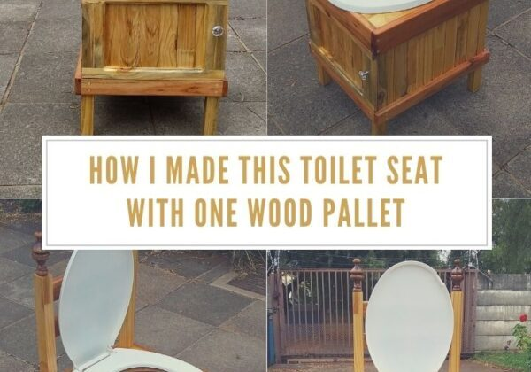 How I Made This Toilet Seat With One Wood Pallet