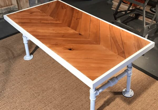 Industrial Chevron Pallet Coffee Table