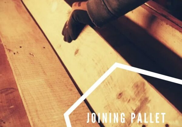 Joining pallet wood without a jointer