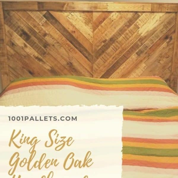 King Size Golden Oak Headboard