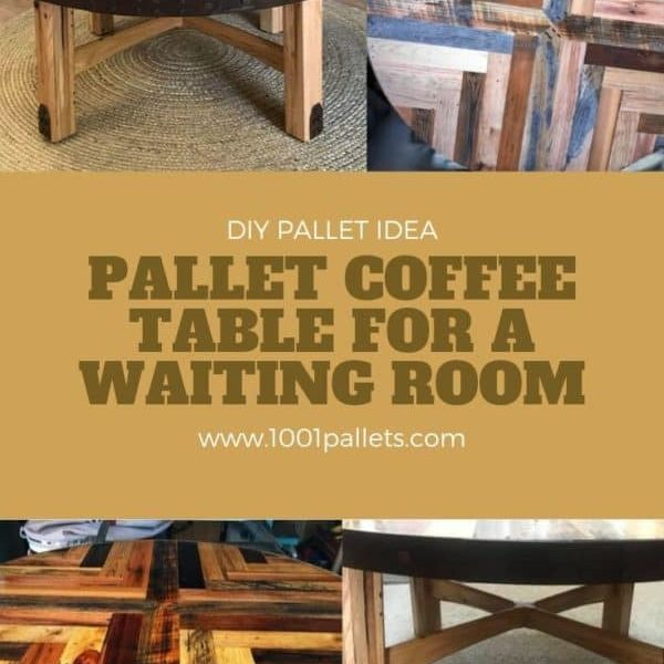 Pallet Coffee Table For a Waiting Room