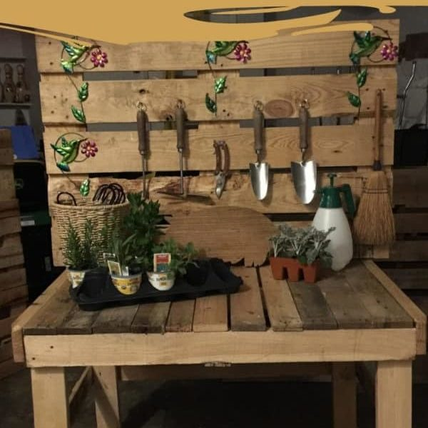 Raised Pallet Garden Planter