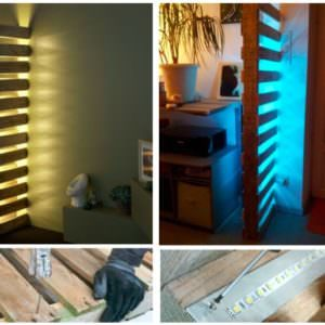 Pallet-Made Design Wall Lamp