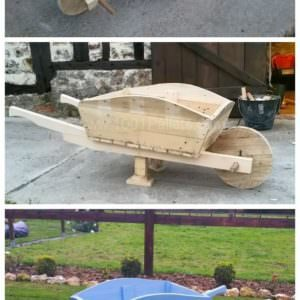 pallet wheelbarrow
