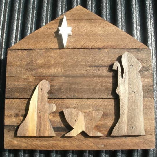Pallet Wood Christmas Nativity