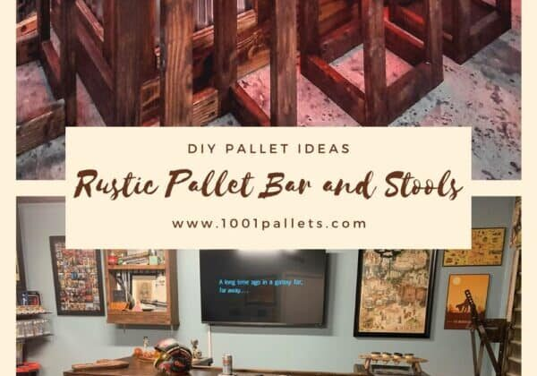 Rustic Pallet Bar and Stools