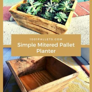 Simple Mitered Pallet Planter