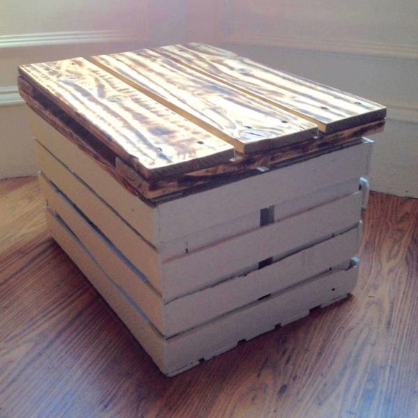 1001pallets.com-storage-table-made-from-a-veg-crate-and-a-pallet