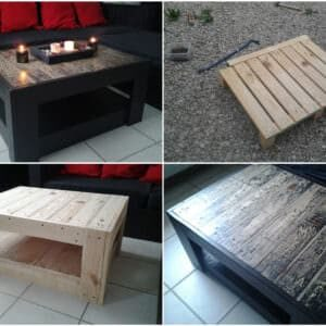 Table basse en palette 1