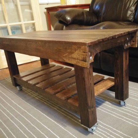 1001pallets.com-pallet-and-two-8-2x3-coffee-table-on-casters