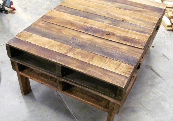 Two-pallet Rustic Pallet Coffee Table