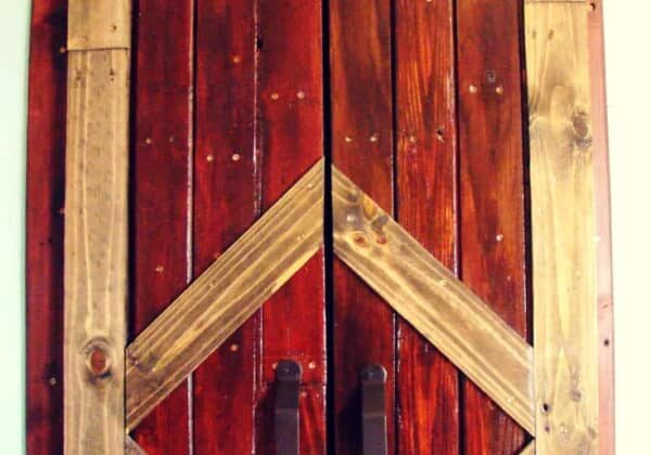 Using Your Old Pallets to Build a Barn Door